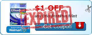 $1.00 off any Efferdent Plus Mint