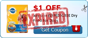$1.00 off any one (1) PEDIGREE Dry Food For Dogs