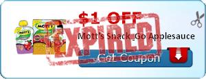 $1.00 off Mott's Snack & Go Applesauce