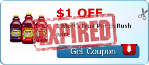 $1.00 off 1 Mott's Fruit Punch Rush juice