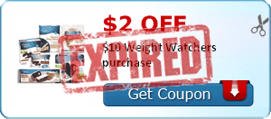 $2.00 off $10 Weight Watchers purchase