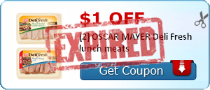 $1.00 off (2) OSCAR MAYER Deli Fresh lunch meats