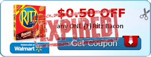 $0.50 off any ONE (1) Ritz Bacon