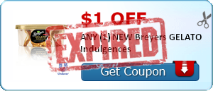 $1.00 off ANY (1) NEW Breyers GELATO Indulgences