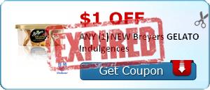$1.00 off ANY (1) NEW Breyers GELATO Indulgences