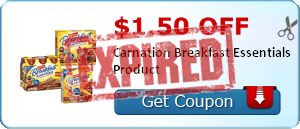 $1.50 off Carnation Breakfast Essentials Product