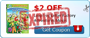 $2.00 off LeapFrog Letter Factory Adventures Movie