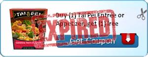 Buy (1) Tai Pei Entree or Appetizer, get (1) free