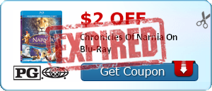 $2.00 off Chronicles Of Narnia On Blu-Ray