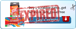 Buy 1 Scrabble game, get Scrabble card game Free