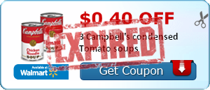 $0.40 off 3 Campbell's condensed Tomato soups