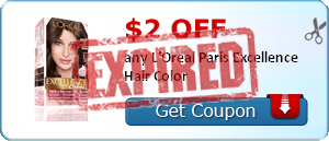 $2.00 off any L'Oreal Paris Excellence Hair Color