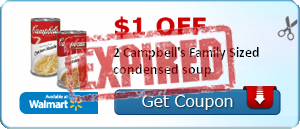 $1.00 off 2 Campbell's Family Sized condensed soup