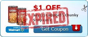 $1.00 off any (3) Campbell's Chunky Soup cans