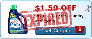 $1.50 off any TWO (2) Purex Laundry Detergents