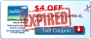 $4.00 off any Non-Drowsy Claritin-D, 15ct