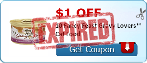 $1.00 off 10 Fancy Feast Gravy Lovers™ Cat Food