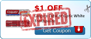 $1.00 off Colgate Total or Optic White Toothpaste
