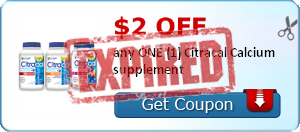 $2.00 off any ONE (1) Citracal Calcium supplement