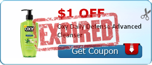 $1.00 off Oxy Daily Defense Advanced Cleanser