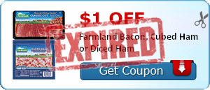 $1.00 off Farmland Bacon, Cubed Ham or Diced Ham