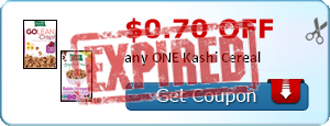 $0.70 off any ONE Kashi Cereal