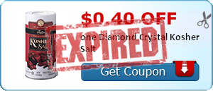 $0.40 off one Diamond Crystal Kosher Salt