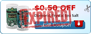 $0.50 off Diamond Crystal Sea Salt
