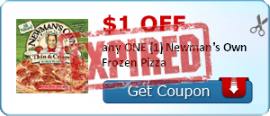$1.00 off any ONE (1) Newman's Own Frozen Pizza