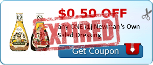 $0.50 off any ONE (1) Newman's Own Salad Dressing
