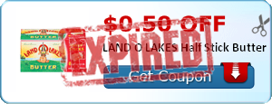 $0.50 off LAND O LAKES Half Stick Butter