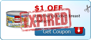 $1.00 off 2 HORMEL Chicken Breast products