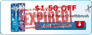 $1.50 off ONE Oral-B Pulsar Toothbrush