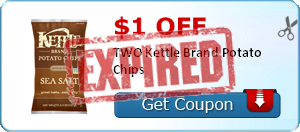 $1.00 off TWO Kettle Brand Potato Chips