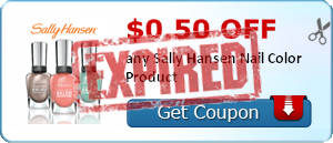 $0.50 off any Sally Hansen Nail Color Product