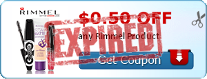 $0.50 off any Rimmel Product
