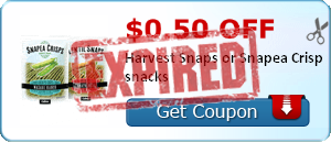 $0.50 off Harvest Snaps or Snapea Crisp snacks