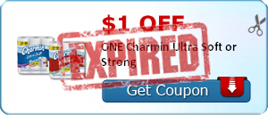 $1.00 off ONE Charmin Ultra Soft or Strong
