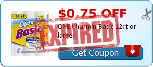 $0.75 off ONE Charmin Basic 12ct or larger