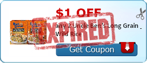 $1.00 off any 2 Uncle Ben's Long Grain & Wild Rice