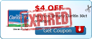 $4.00 off any Non-Drowsy Claritin 30ct or larger