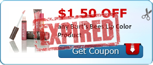 $1.50 off any Burt's Bees Lip Color Product