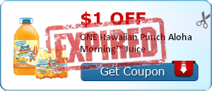$1.00 off ONE Hawaiian Punch Aloha Morning™ Juice