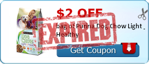 $2.00 off bag of Purina Dog Chow Light & Healthy