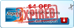 $4.00 off Zegerid OTC 42 ct only