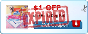 $1.00 off one Hartz Dog Pad
