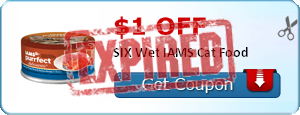 $1.00 off SIX Wet IAMS Cat Food