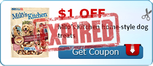 $1.00 off Milo's Kitchen home-style dog treats