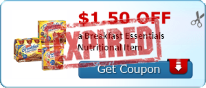 $1.50 off a Breakfast Essentials Nutritional Item