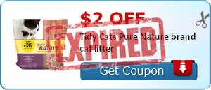 $2.00 off Tidy Cats Pure Nature brand cat litter